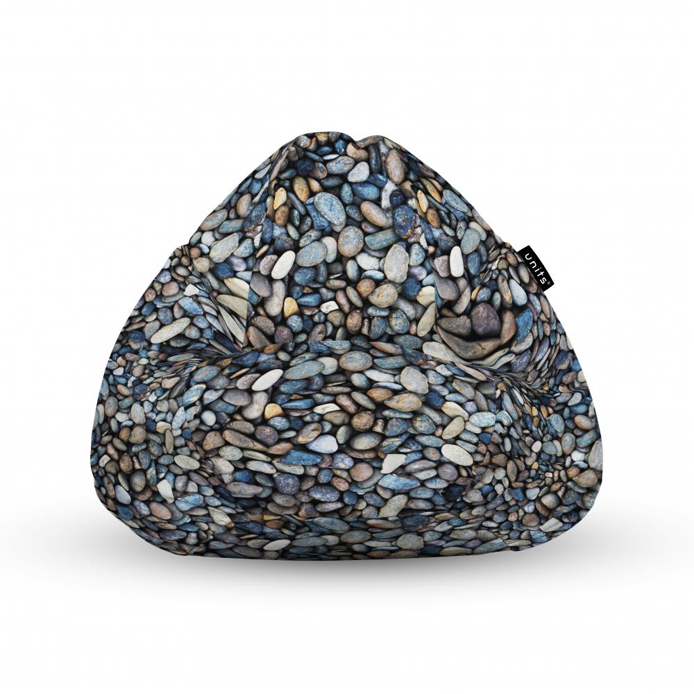 Fotoliu Units Puf Bean Bags tip para impermeabil cu maner pietricele