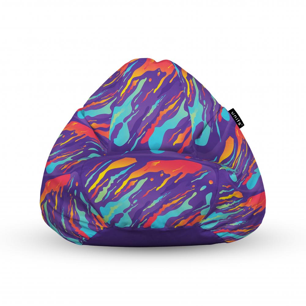 Fotoliu Units Puf Bean Bags tip para impermeabil cu maner retro lava