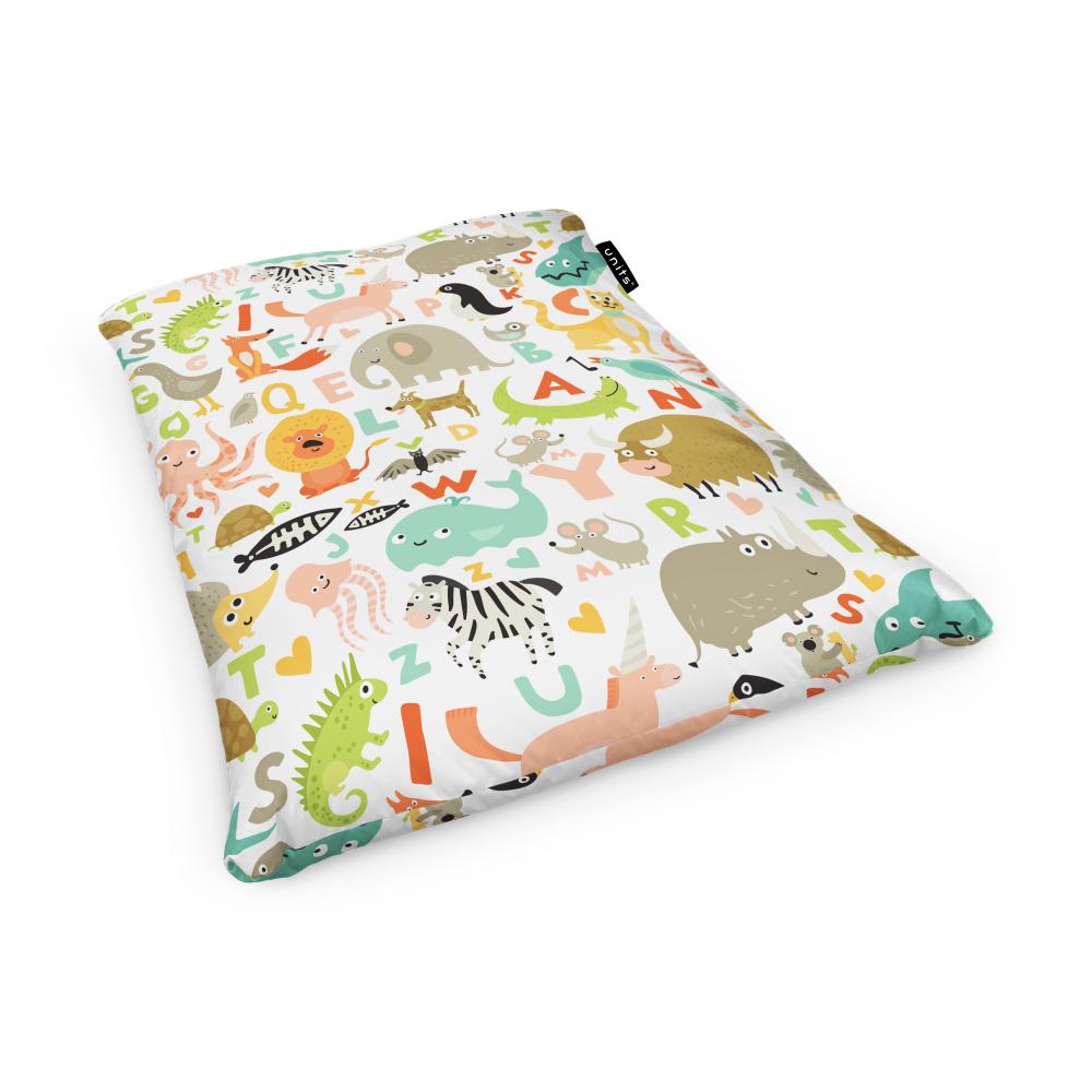 Fotoliu Units Puf Bean Bags tip perna impermeabil abecedar animale