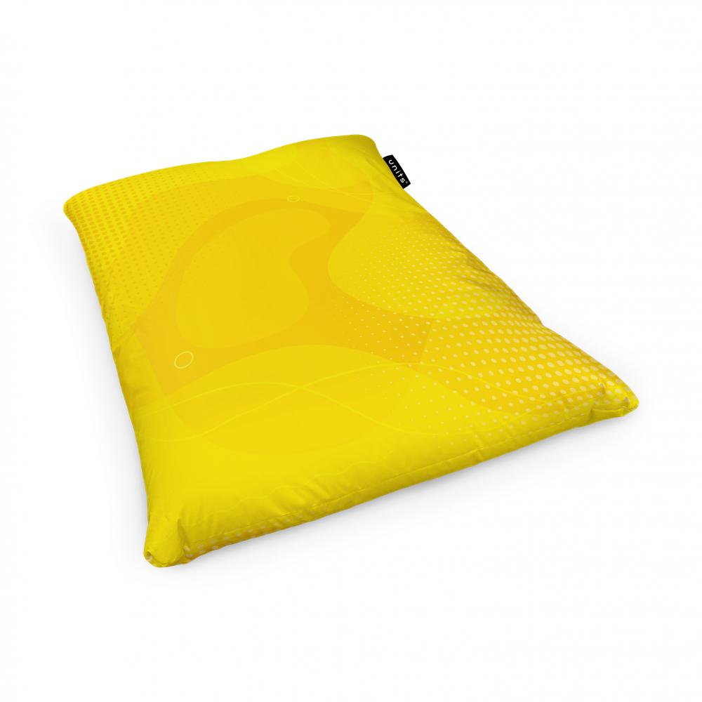 Fotoliu Units Puf Bean Bags tip perna impermeabil abstract galben
