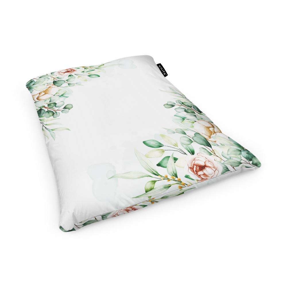 Fotoliu Units Puf Bean Bags tip perna impermeabil floral alb