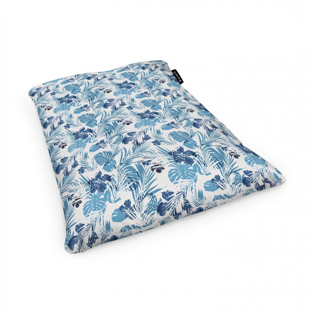 Fotoliu Units Puf Bean Bags tip perna impermeabil frunze albastre