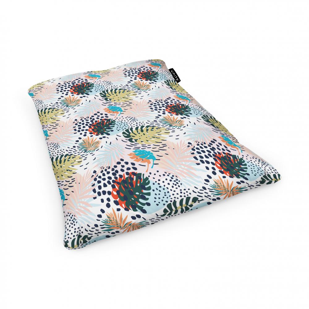 Fotoliu Units Puf Bean Bags tip perna impermeabil frunze multicolore