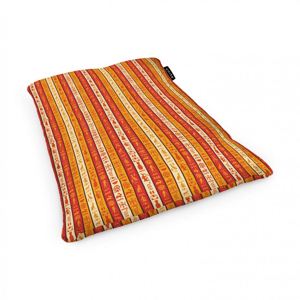 Fotoliu Units Puf Bean Bags tip perna impermeabil hieroglife egiptene