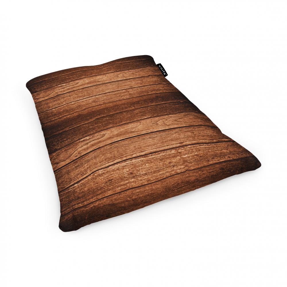 Fotoliu Units Puf Bean Bags tip perna impermeabil lemn maro inchis