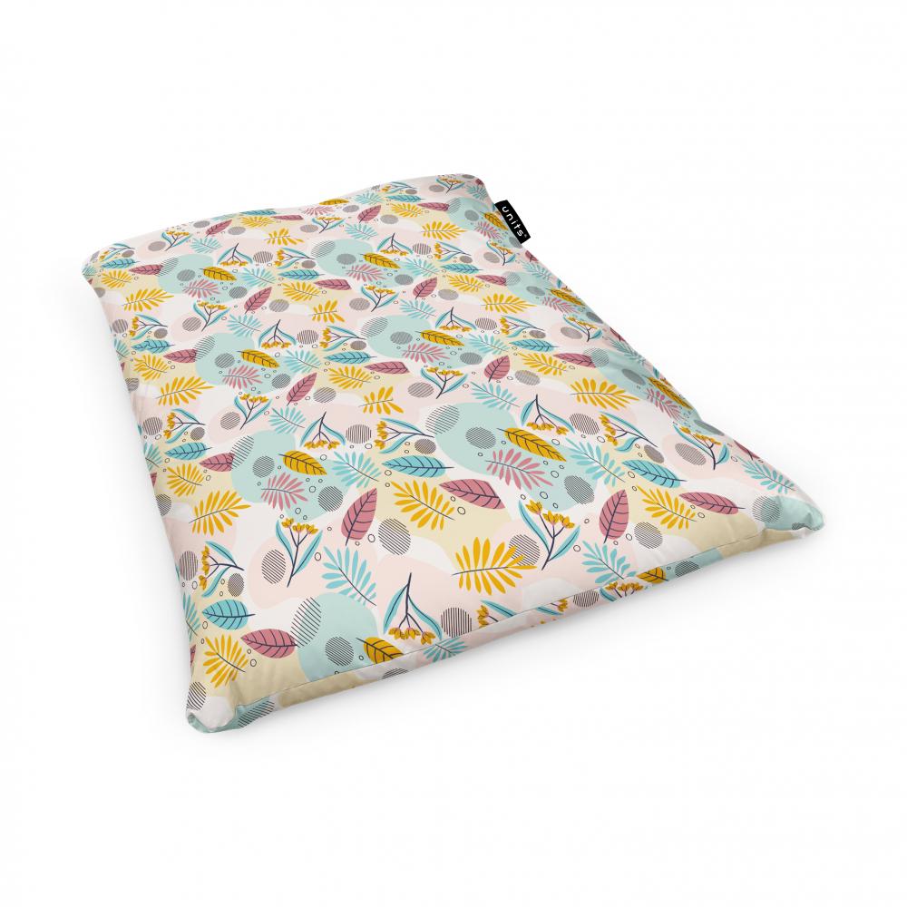 Fotoliu Units Puf Bean Bags tip perna impermeabil multicolor cu frunze