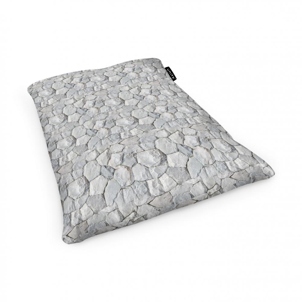 Fotoliu Units Puf Bean Bags tip perna impermeabil pietre albe