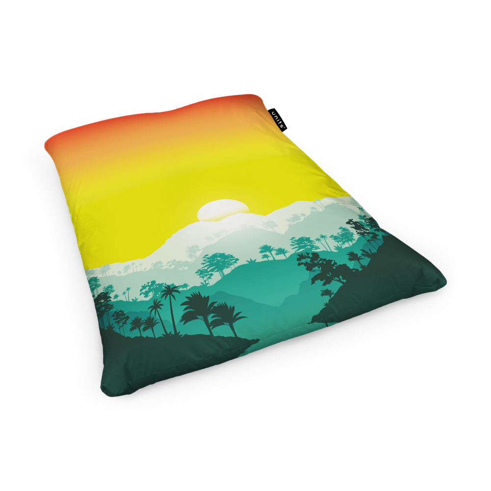 Fotoliu Units Puf Bean Bags tip perna impermeabil tropical