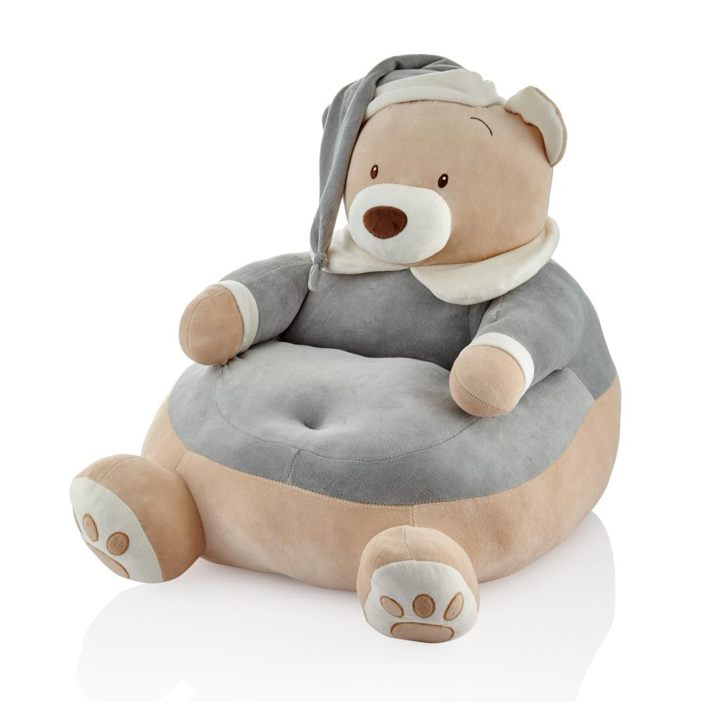 Fotoliu din plus BabyJem Bear Grey 60x48 cm