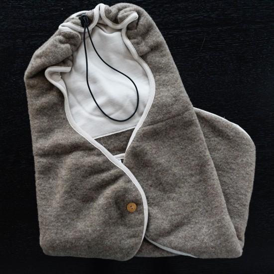 Husa scaun auto Iobio-wool fleece Light Grey