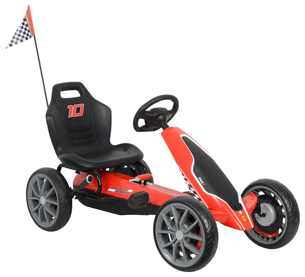 Kart cu pedale Ferrari Go Kart Red