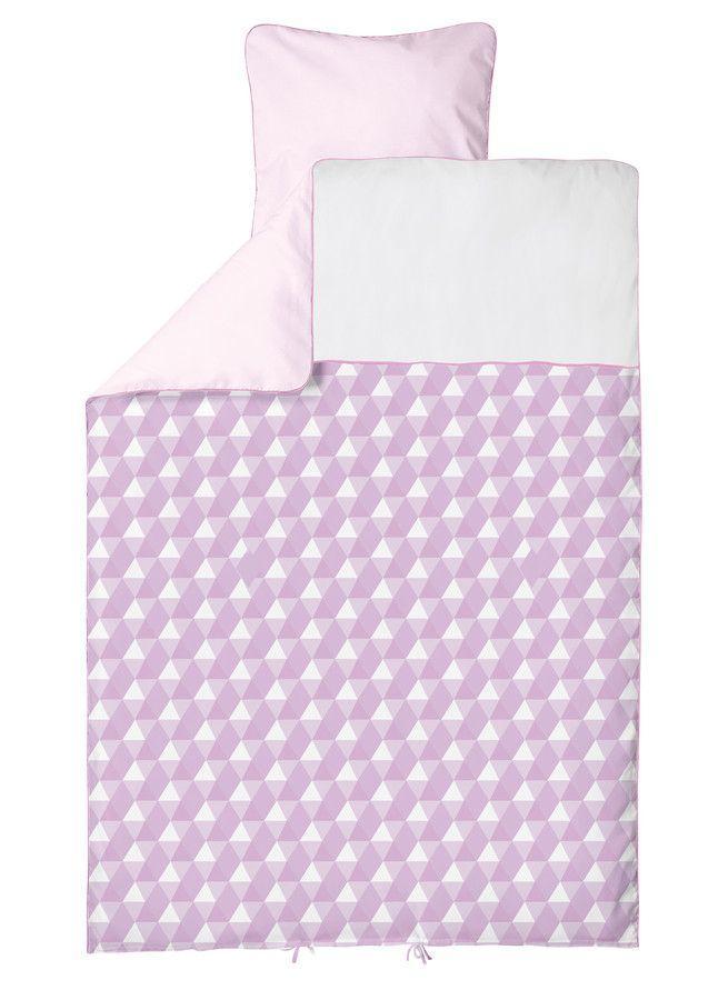 Lenjerie de pat bebelusi Baby roz BabyDan 100x140 cm
