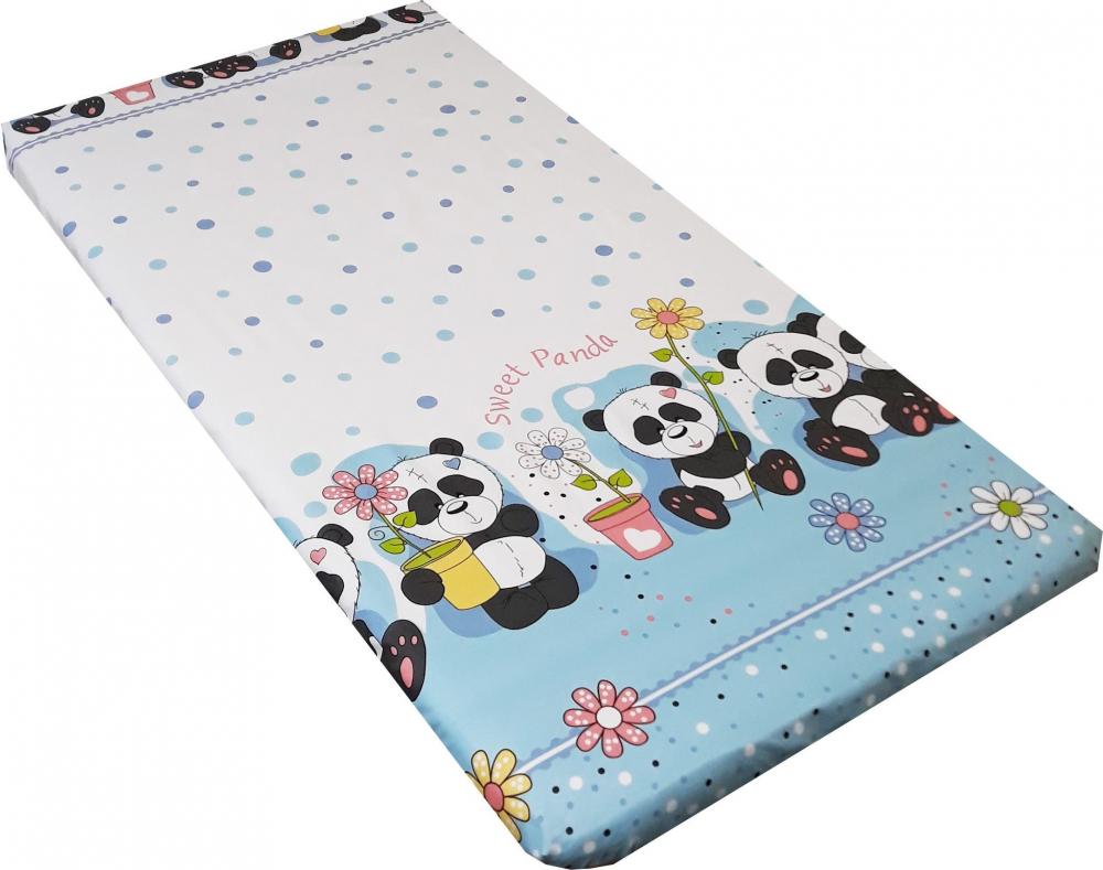 Lenjerie patut Sweet Panda cu 4 piese Blue