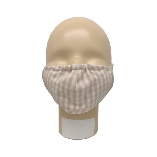 Masca pentru adulti refolosibila din bumbac organic cu filtru Iobio Popolini Karo Sand Rose imagine