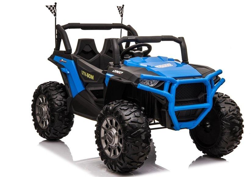 Masinuta electrica 4x4 cu roti din cauciuc EVA Nichiduta UTV Bom Blue