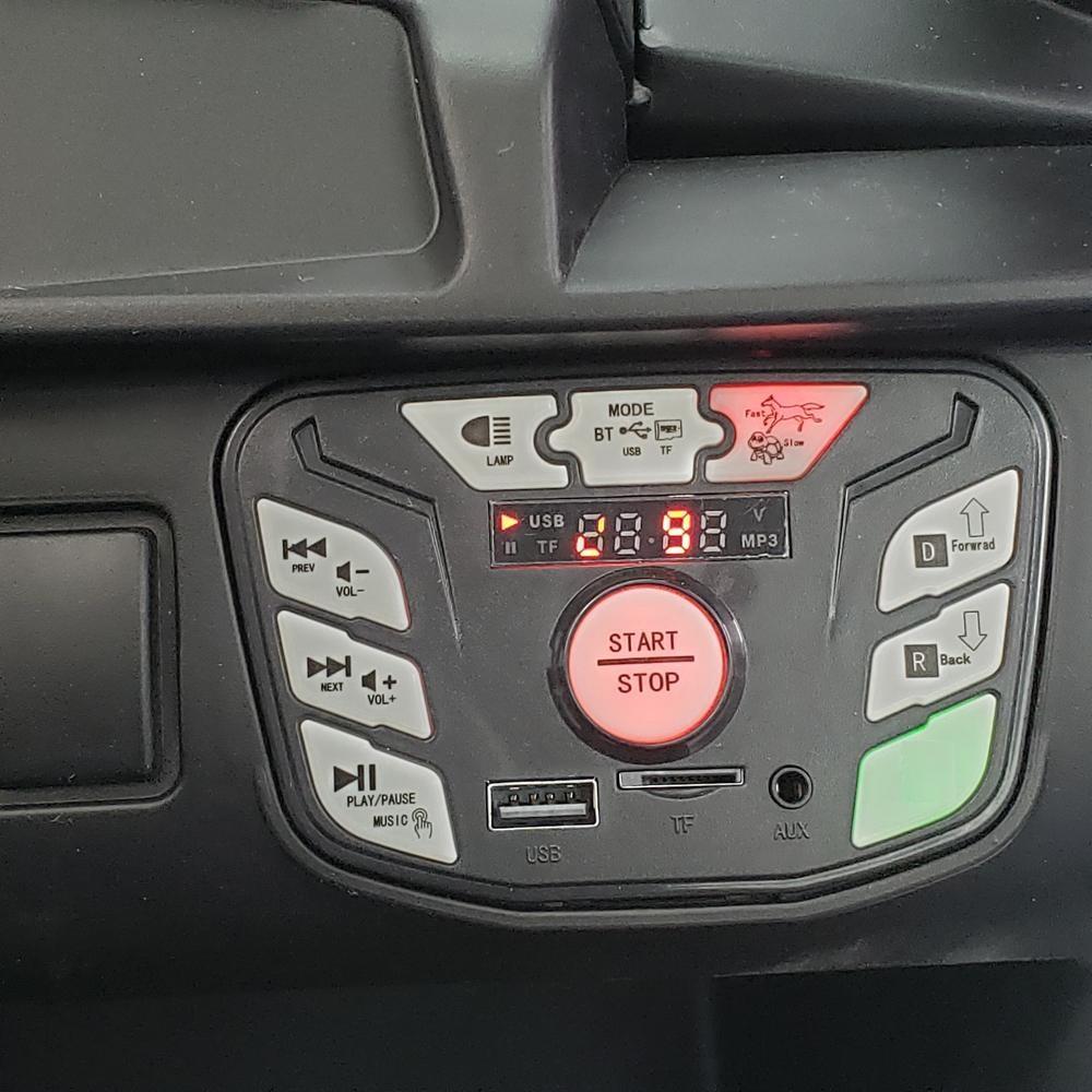 Masinuta electrica 4x4 cu roti din cauciuc EVA Nichiduta UTV Bom Blue - 1