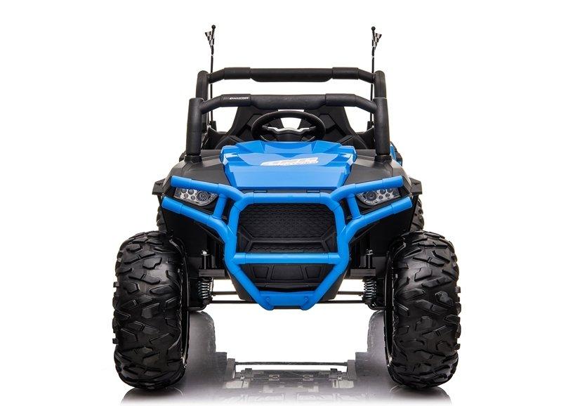 Masinuta electrica 4x4 cu roti din cauciuc EVA Nichiduta UTV Bom Blue - 2