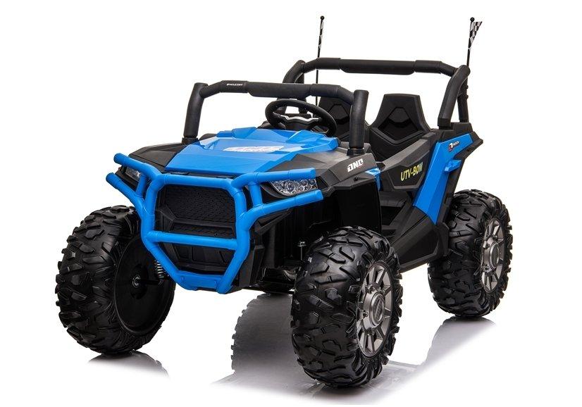 Masinuta electrica 4x4 cu roti din cauciuc EVA Nichiduta UTV Bom Blue - 3