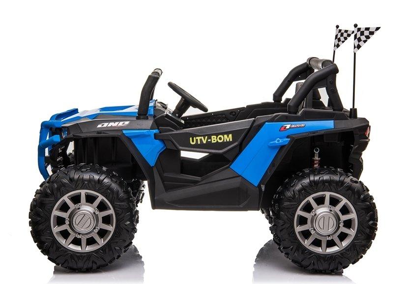 Masinuta electrica 4x4 cu roti din cauciuc EVA Nichiduta UTV Bom Blue - 4