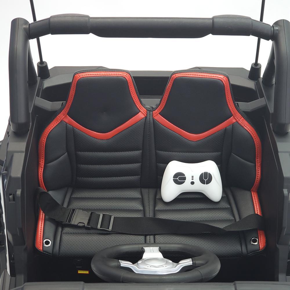 Masinuta electrica 4x4 cu roti din cauciuc EVA Nichiduta UTV Bom Red - 4
