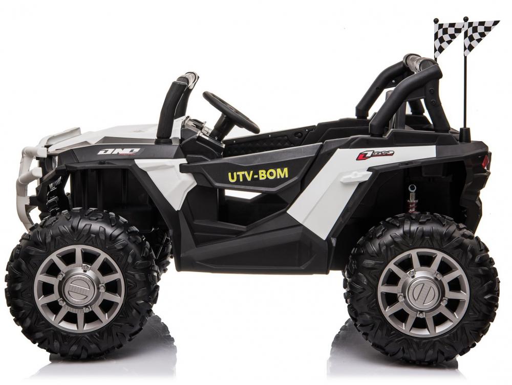 Masinuta electrica 4x4 cu roti din cauciuc EVA Nichiduta UTV Bom White - 4