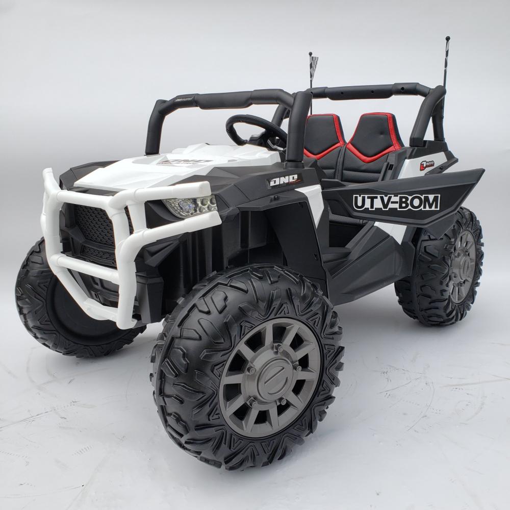 Masinuta electrica 4x4 cu roti din cauciuc EVA Nichiduta UTV Bom White - 6