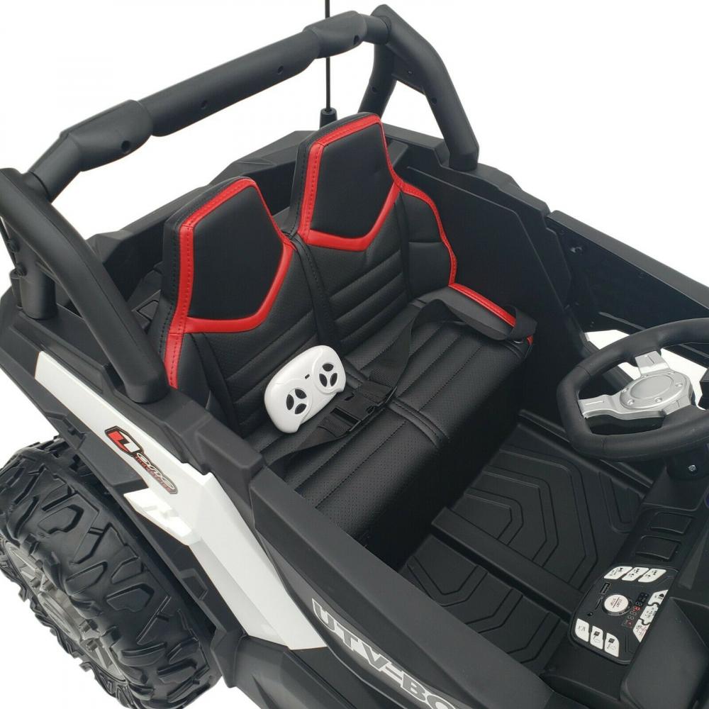 Masinuta electrica 4x4 cu roti din cauciuc EVA Nichiduta UTV Bom White - 7