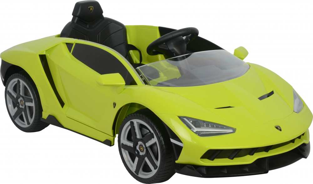 Masinuta electrica cu roti EVA si scaun piele Lamborghini Centenario Green - 1