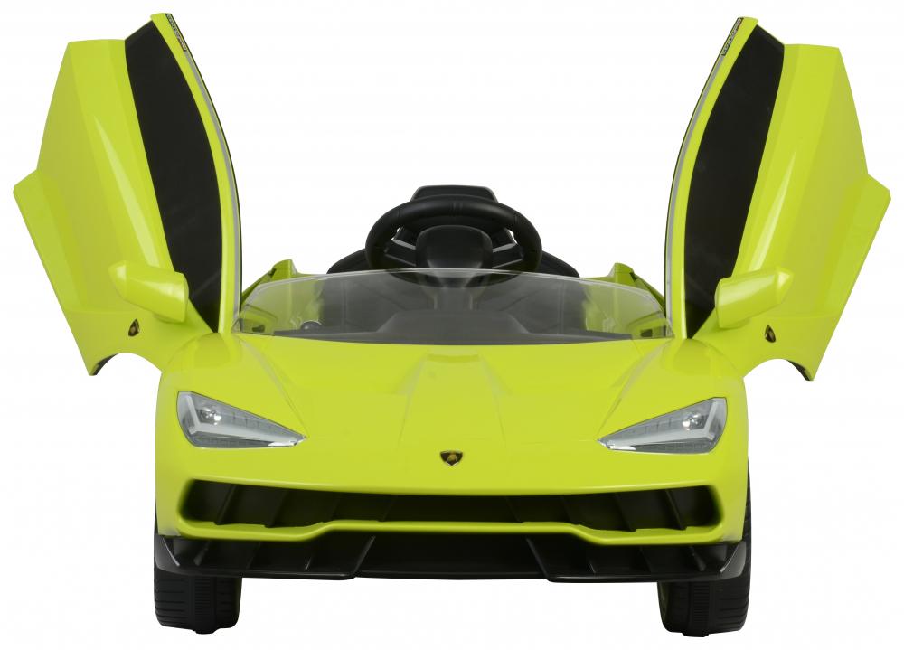 Masinuta electrica cu roti EVA si scaun piele Lamborghini Centenario Green - 5