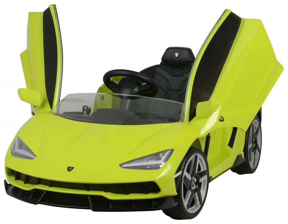 Masinuta electrica cu roti EVA si scaun piele Lamborghini Centenario Green - 6