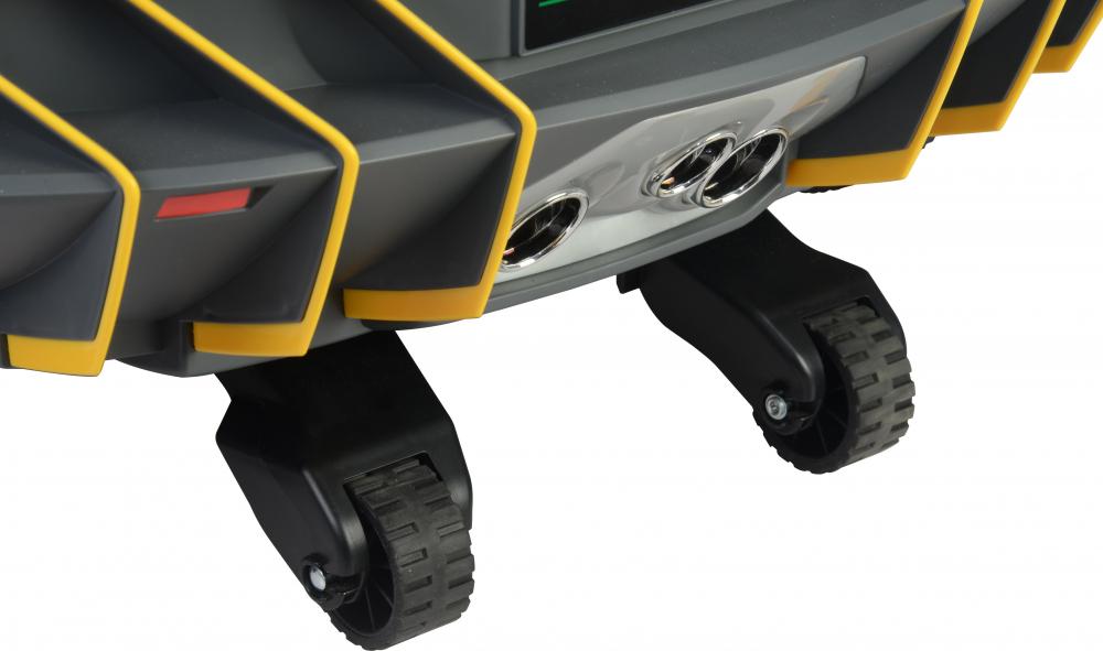 Masinuta electrica cu roti EVA si scaun piele Lamborghini Centenario Green - 7