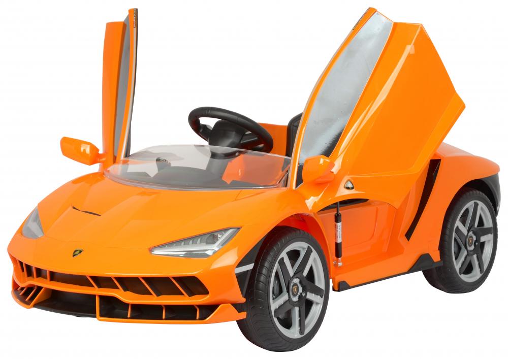 Masinuta electrica cu roti EVA si scaun piele Lamborghini Centenario Orange - 1