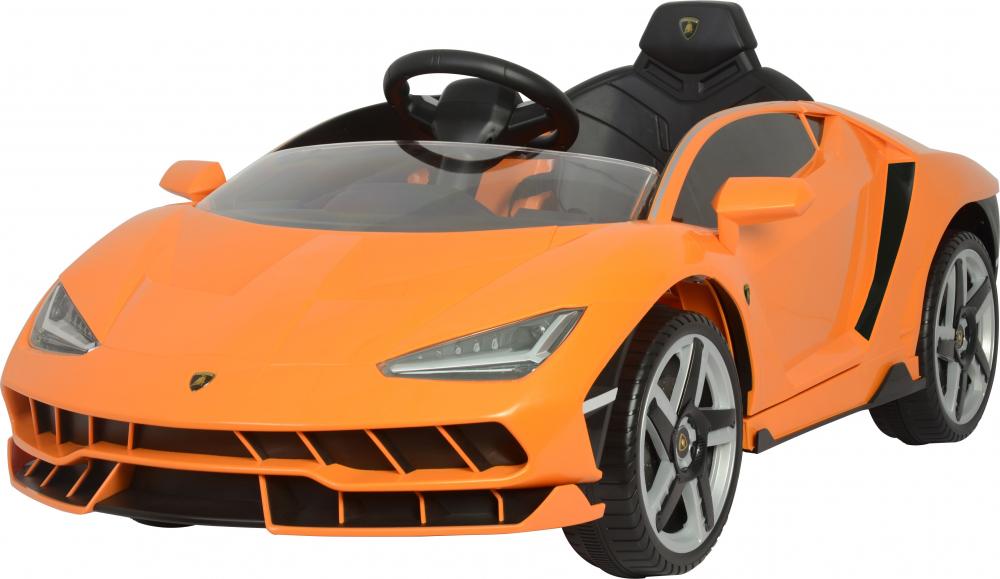 Masinuta electrica cu roti EVA si scaun piele Lamborghini Centenario Orange - 3