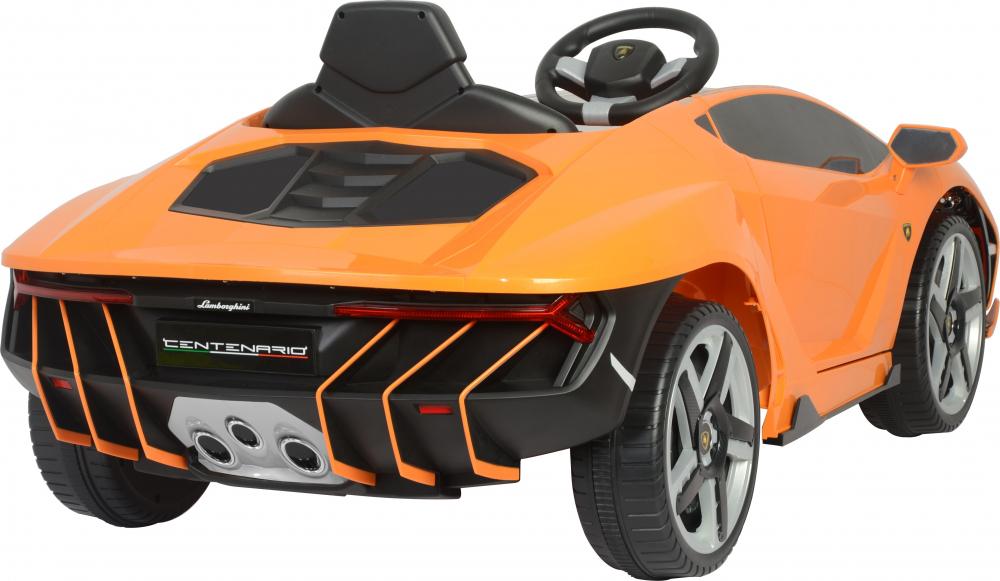 Masinuta electrica cu roti EVA si scaun piele Lamborghini Centenario Orange - 5