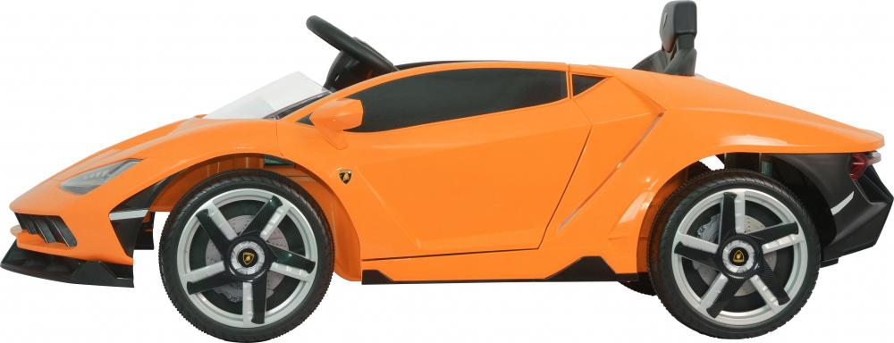 Masinuta electrica cu roti EVA si scaun piele Lamborghini Centenario Orange - 8