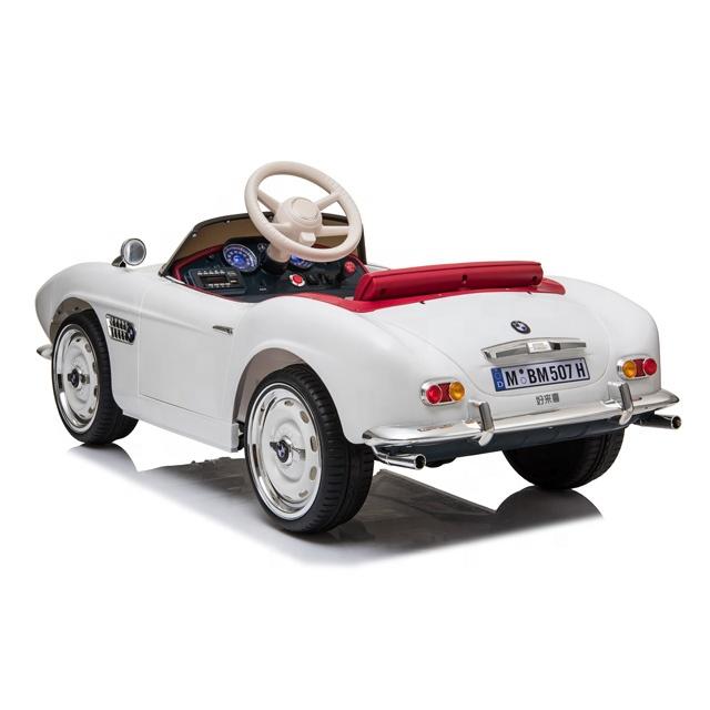Masinuta electrica cu roti EVA BMW 507 White - 1