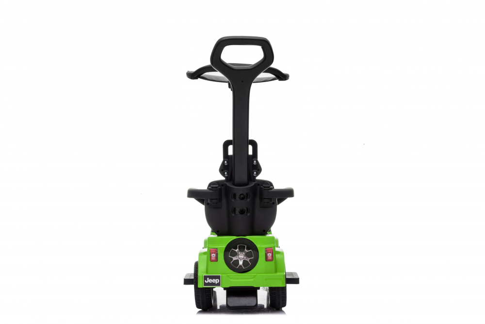 Masinuta electrica cu maner parental si roti EVA Jeep Wrangler Green - 3
