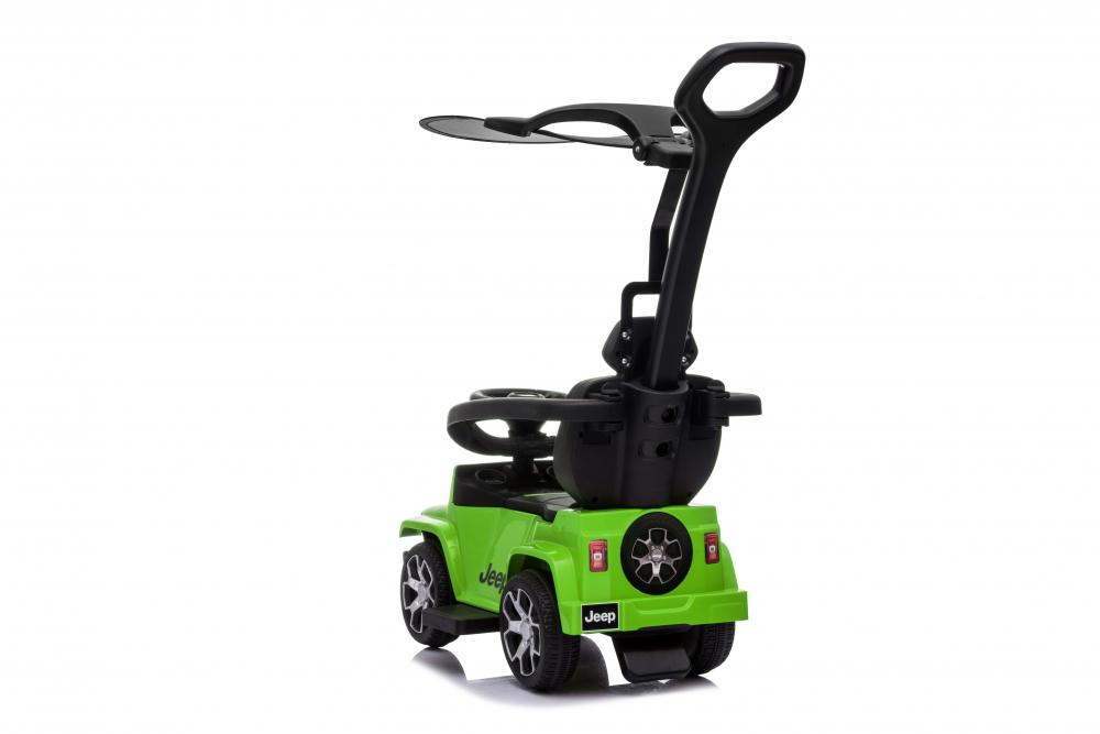 Masinuta electrica cu maner parental si roti EVA Jeep Wrangler Green - 4