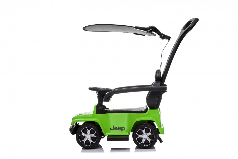 Masinuta electrica cu maner parental si roti EVA Jeep Wrangler Green - 5