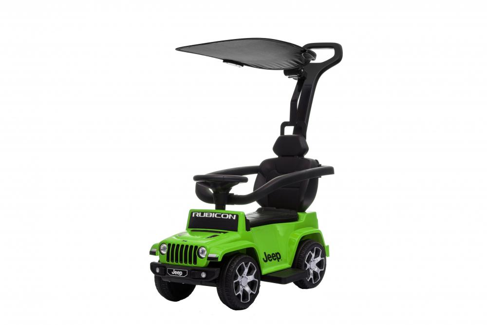Masinuta electrica cu maner parental si roti EVA Jeep Wrangler Green - 6
