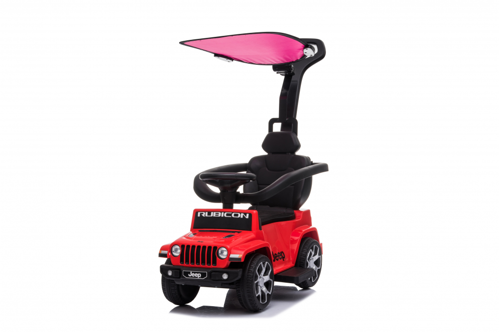 Masinuta electrica cu maner parental si roti EVA Jeep Wrangler Red