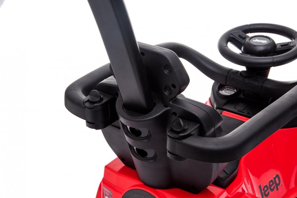 Masinuta electrica cu maner parental si roti EVA Jeep Wrangler Red - 1