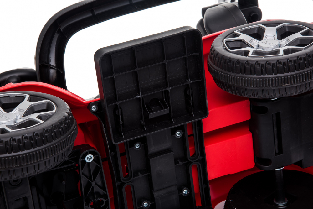 Masinuta electrica cu maner parental si roti EVA Jeep Wrangler Red - 3