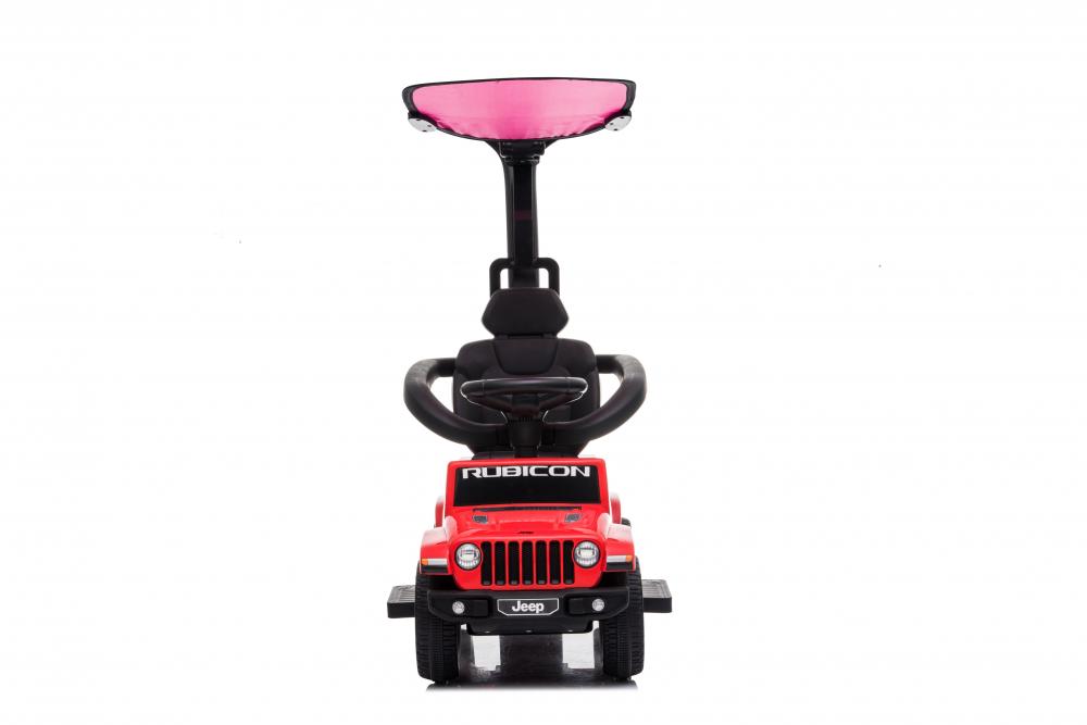 Masinuta electrica cu maner parental si roti EVA Jeep Wrangler Red - 4