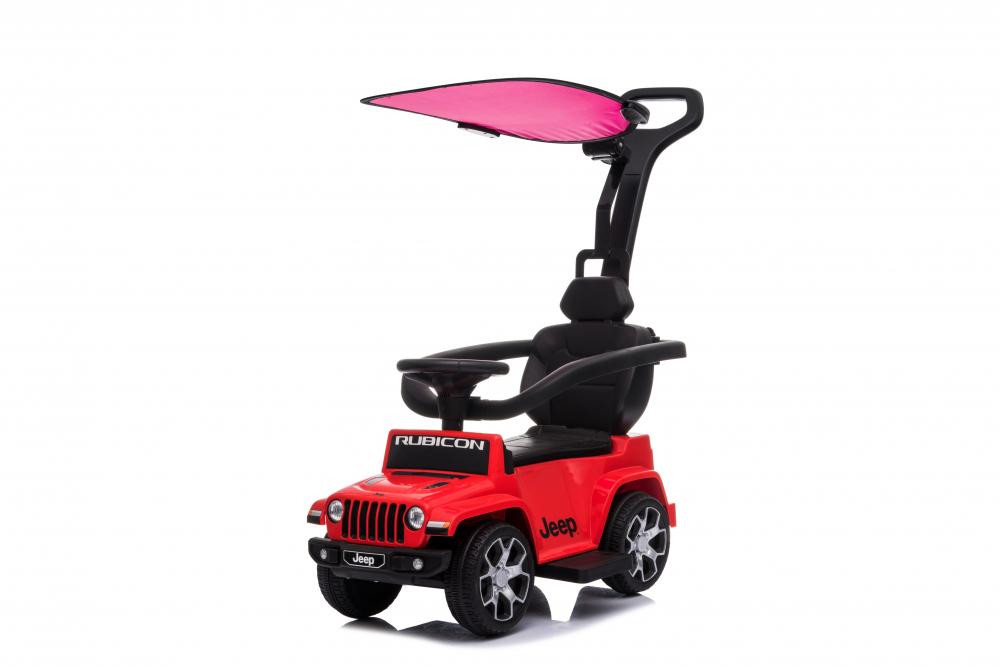Masinuta electrica cu maner parental si roti EVA Jeep Wrangler Red - 5