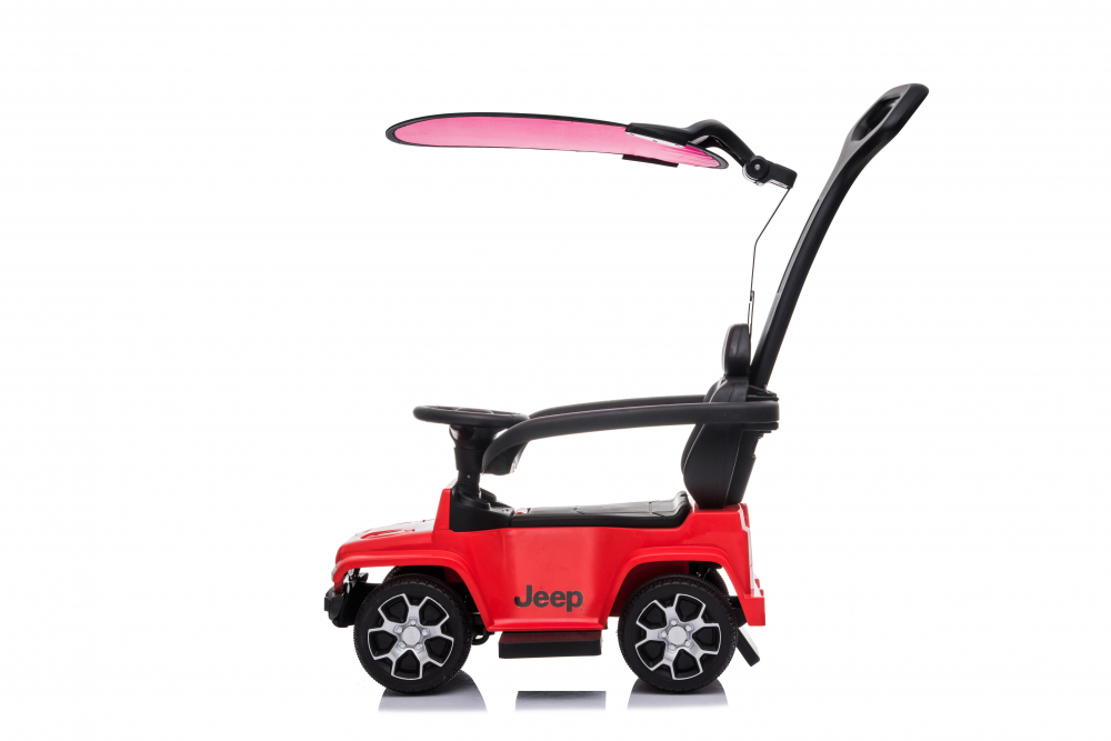 Masinuta electrica cu maner parental si roti EVA Jeep Wrangler Red - 6