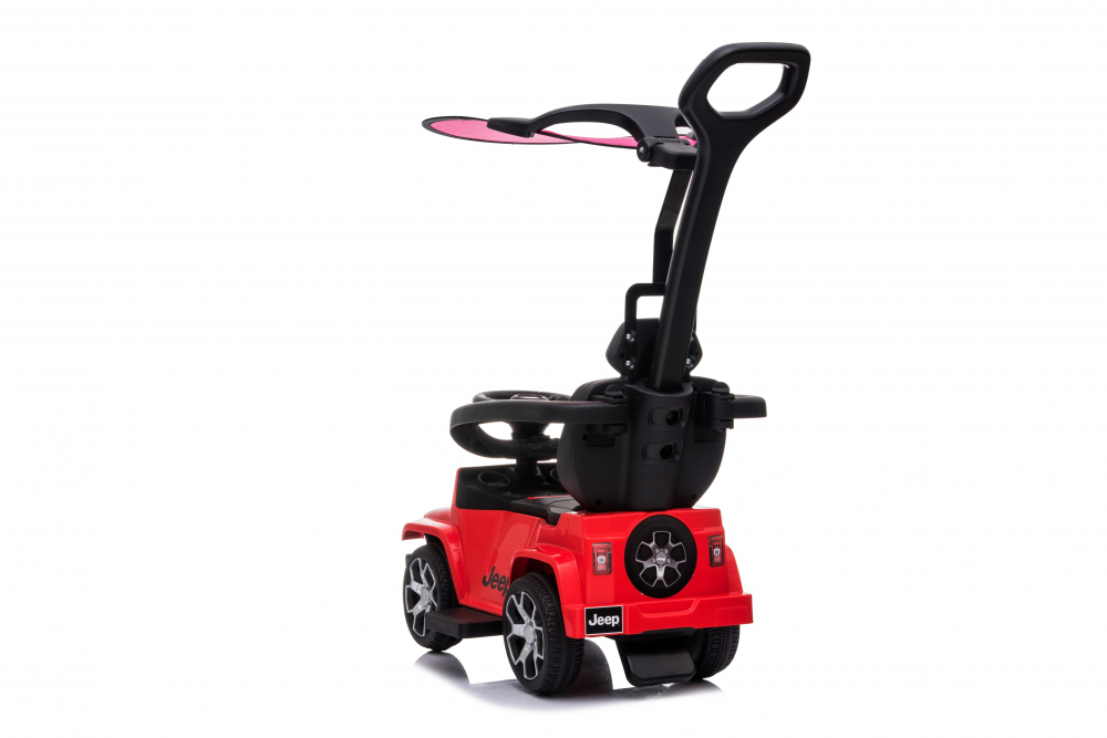 Masinuta electrica cu maner parental si roti EVA Jeep Wrangler Red - 7