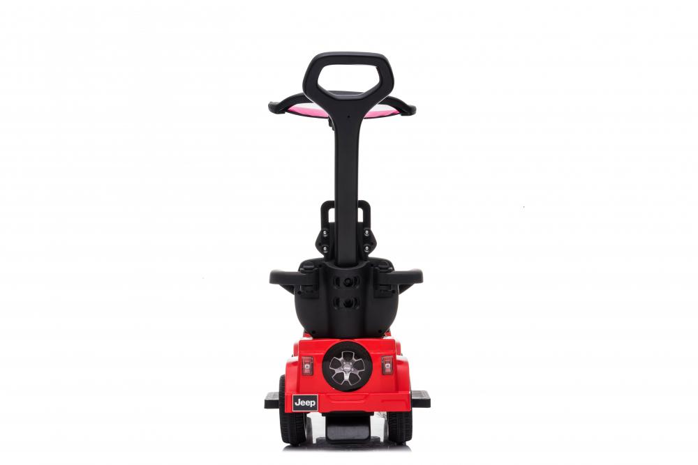 Masinuta electrica cu maner parental si roti EVA Jeep Wrangler Red - 8