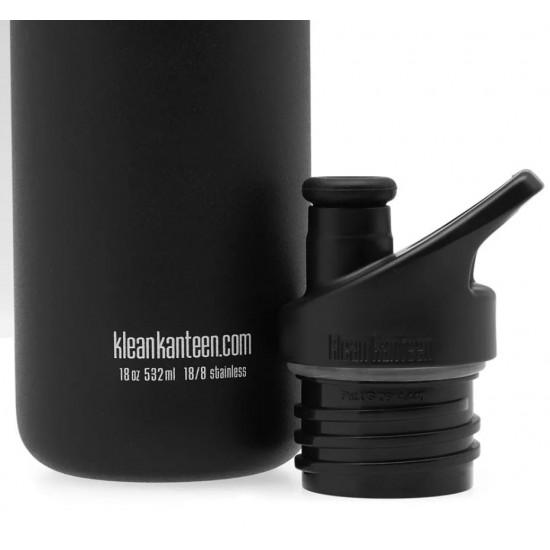 Recipient din otel inoxidabil 532 ml cu capac sport Klean Kanteen Classic Shale Black