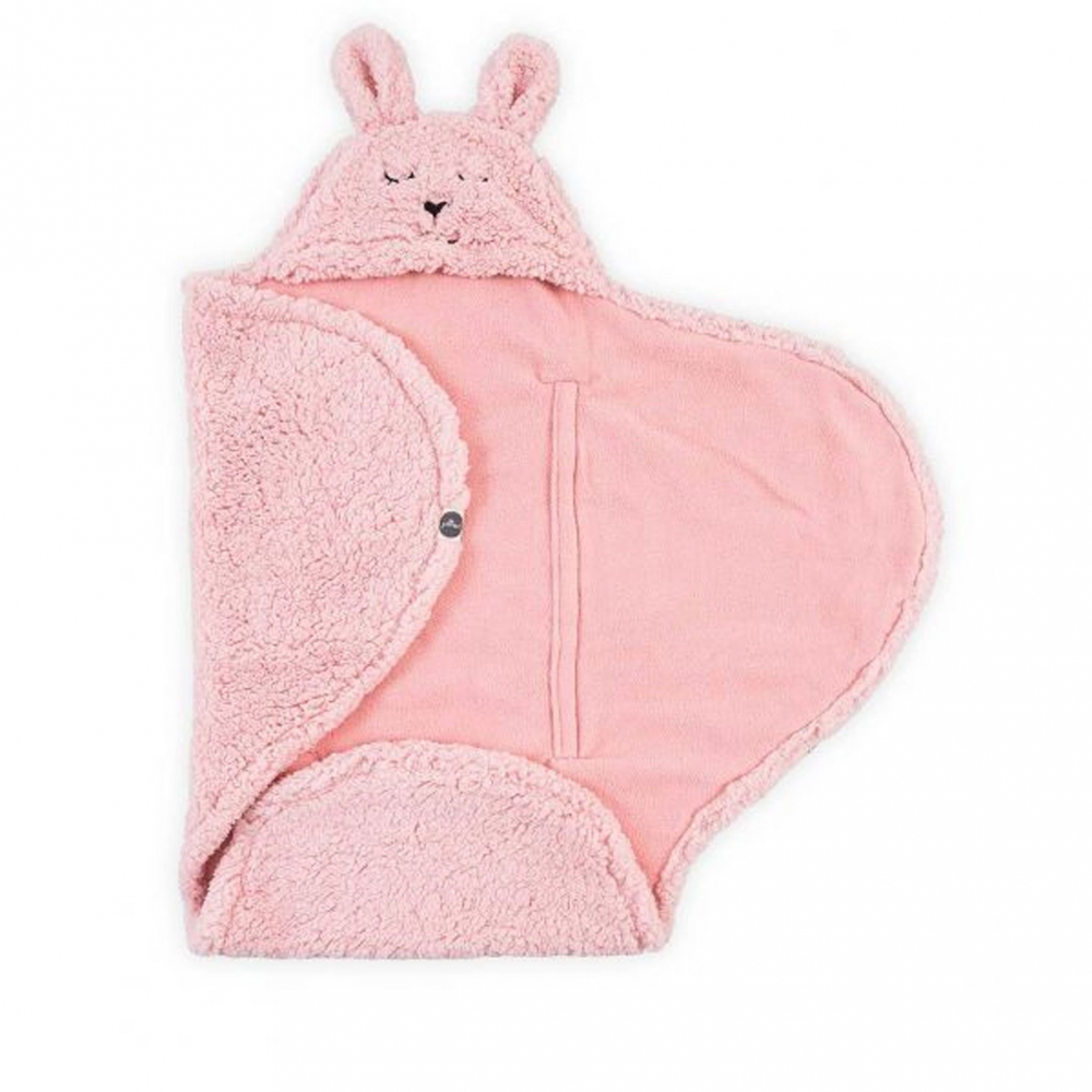 Sac de dormit pentru calatorie Jollein Bunny 100x150cm Blush Pink